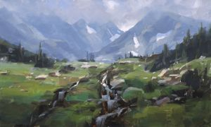 Indian Peaks Wilderness (Study), oil, 12x20
