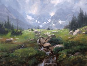 Indian Peaks Wilderness, oil, 34x45