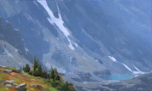 Sky Pond (Study), oil, 12x20
