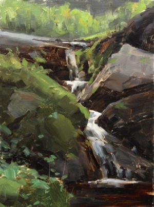 Flowing to Crystal Creek :: 12x9 :: Crystal Lake, CO :: $1000