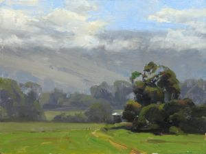Up Country Ranch | 9x12 | Oil | Maui, Hawaii