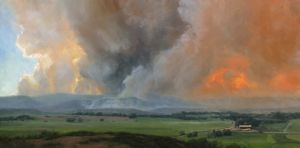 Beauty and Beast | 15x30 inches | Oil | 2012 High Park Fire, Colorado