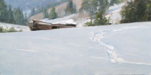 Buried (Study) | 10x20 inches | Oil | near Leadville, Colorado
