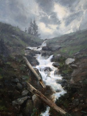 The Coming Rain :: 32x24 :: Breckenridge, CO :: $6200