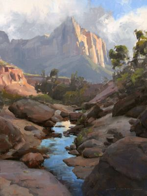The Watchman | 24x18 | Oil | Zion National Park