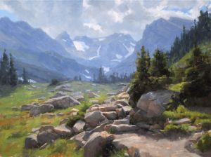 The Trail to Isabelle :: 24x32 :: Oil :: Indian Peaks Wilderness, CO
